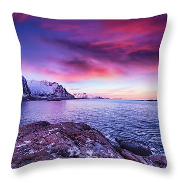 Away From Today Throw Pillow