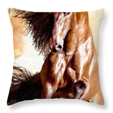 Away The Lad Throw Pillow by James Shepherd