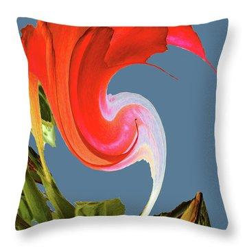 Throw Pillow featuring the digital art Away We Go - Digital Art by Merton Allen