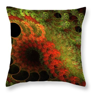 Awed Throw Pillow by Bonnie Bruno