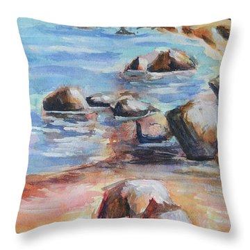 Awenda Shore Throw Pillow by Heather Kertzer