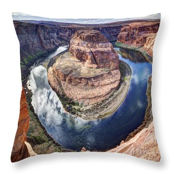 Awesome Amazing Horseshoe Bend Arizona Throw Pillow