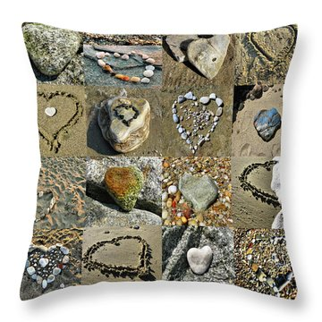Awesome Hearts Found In Nature - Valentine S Day Throw Pillow