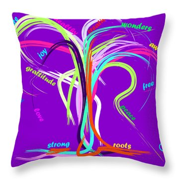 Throw Pillow featuring the painting Awesome New Year  by Go Van Kampen