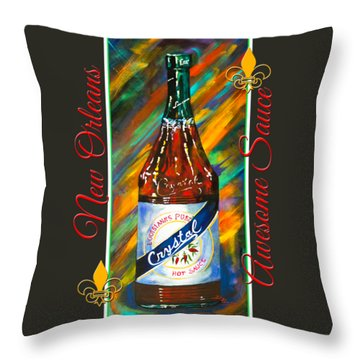 Awesome Sauce - Crystal Throw Pillow