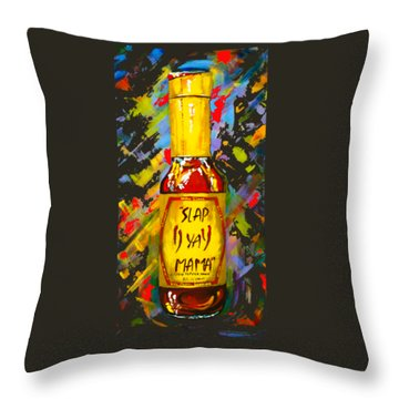 Awesome Sauce - Slap Ya Mama Throw Pillow