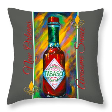 Awesome Sauce - Tabasco Throw Pillow