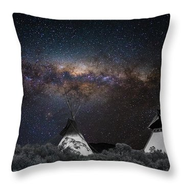 Awesome Skies Throw Pillow by Carolyn Dalessandro