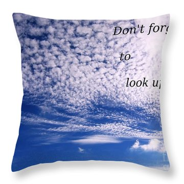 Awesome Sky And Cloud Formation Throw Pillow by Yali Shi