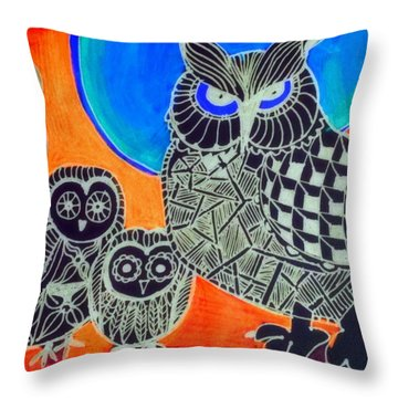 Awls Are Cool Throw Pillow