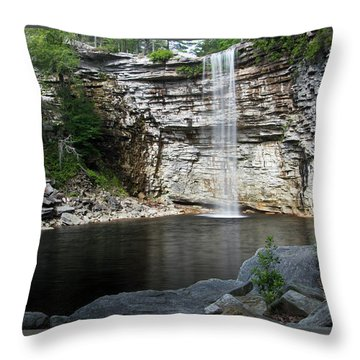 Awosting Falls In July II Throw Pillow by Jeff Severson