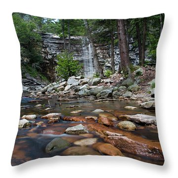 Awosting Falls In July Iv Throw Pillow by Jeff Severson