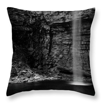 Awosting Falls In Spring #4 Throw Pillow by Jeff Severson