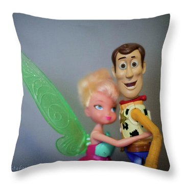 Awww Tink Throw Pillow