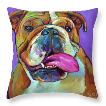 Throw Pillow featuring the painting Axl by Robert Phelps