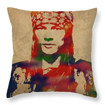 Axl Rose Throw Pillows