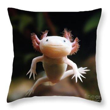 Axolotl Face Throw Pillow