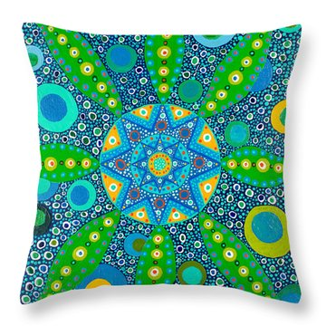 Ayahuasca Vision - Inside The Plant Cell  May 2015 Throw Pillow