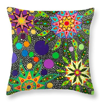 Ayahuasca Vision May 2015 Throw Pillow