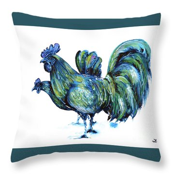 Ayam Cemani Pair Throw Pillow