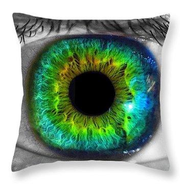 Aye Eye Throw Pillow