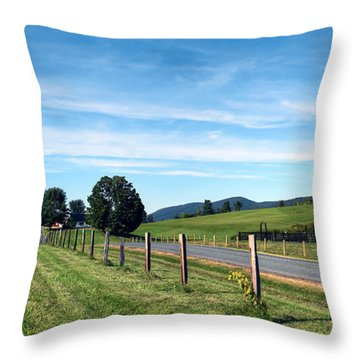 Ayrhill Farm Panoramic - The Berkshires Throw Pillow