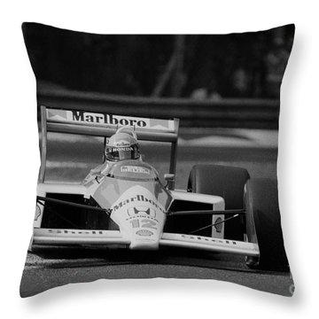 Ayrton Senna. 1988 Italian Grand Prix Throw Pillow