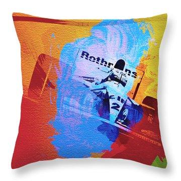 Ayrton Senna Throw Pillow by Naxart Studio