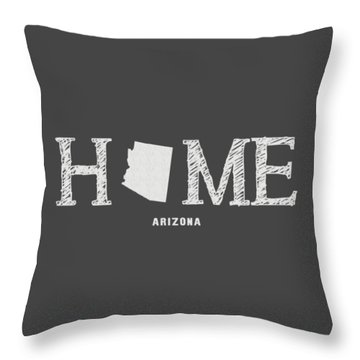 Throw Pillow featuring the mixed media Az Home by Nancy Ingersoll