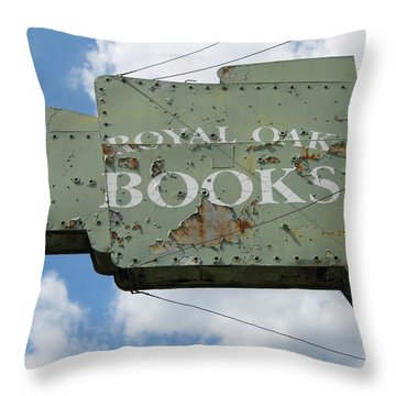 A Sign Of The Times Throw Pillow by Sandra Church