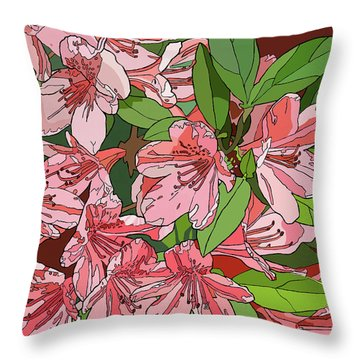 Azalea Bunch Throw Pillow