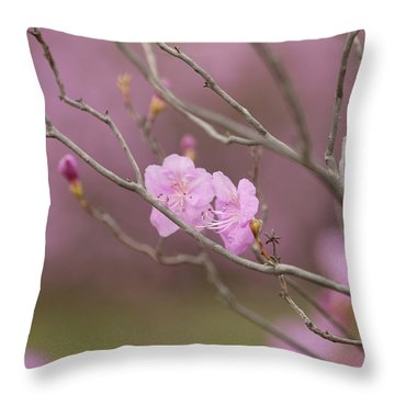 azalea III Throw Pillow