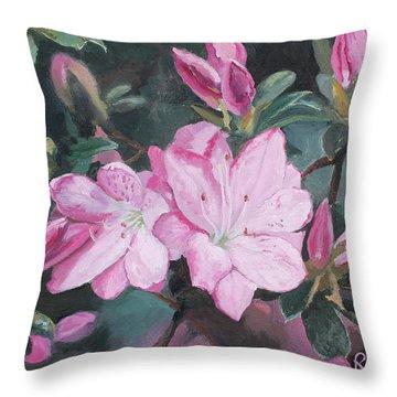 Azalea Throw Pillow by Rachel Hames