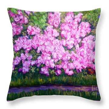 Azalea Spring Throw Pillow