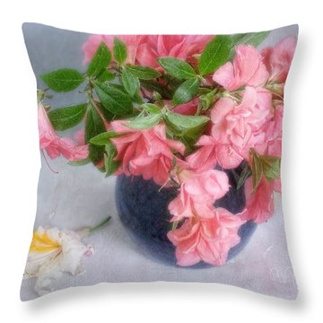 Throw Pillow featuring the photograph Azalea Time by Louise Kumpf