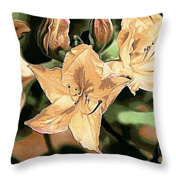 Throw Pillow featuring the photograph Azaleas 1 by Erica Hanel