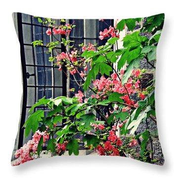 Azaleas At The Window   Throw Pillow by Sarah Loft