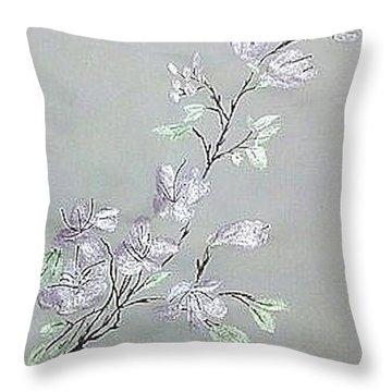 Azaleas Blooming Throw Pillow