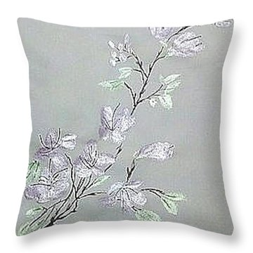 Azaleas Blooming Throw Pillow