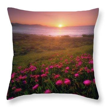 Azkorri In Springtime Throw Pillow