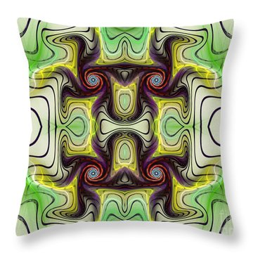 Aztec Art Design Throw Pillow by Deborah Benoit