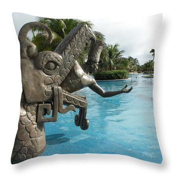 Throw Pillow featuring the photograph Aztec by Dianne Levy