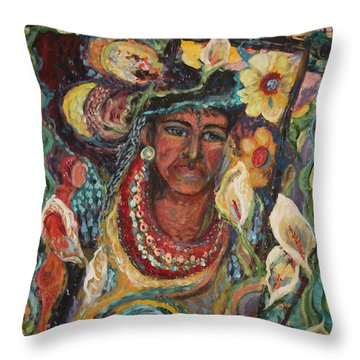 Aztec Garden Throw Pillow