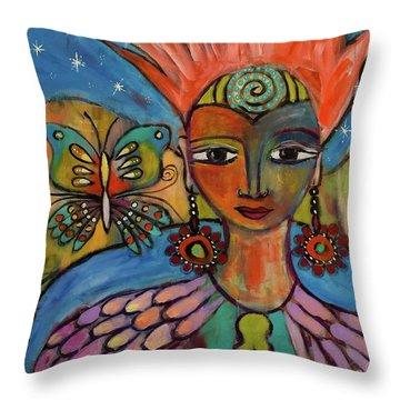 Aztec Princess Throw Pillow