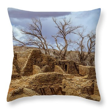 Aztec Ruins, New Mexico Throw Pillow