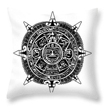 Aztecs Calendar Throw Pillow