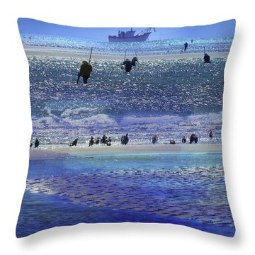 Azul De Lluvia Throw Pillow