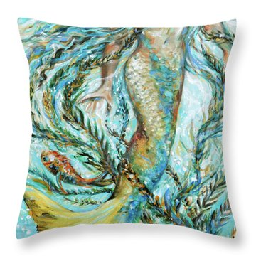 Azure Locks Throw Pillow