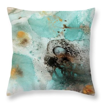 Azure Waters By V.kelly Throw Pillow