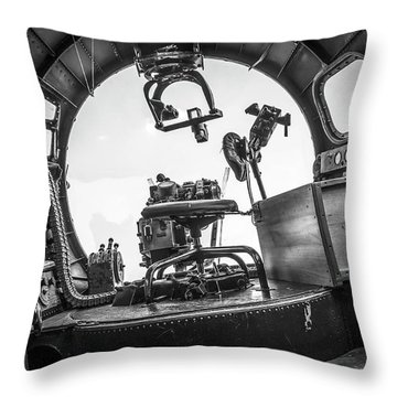 B-17 Bombardier Office Throw Pillow